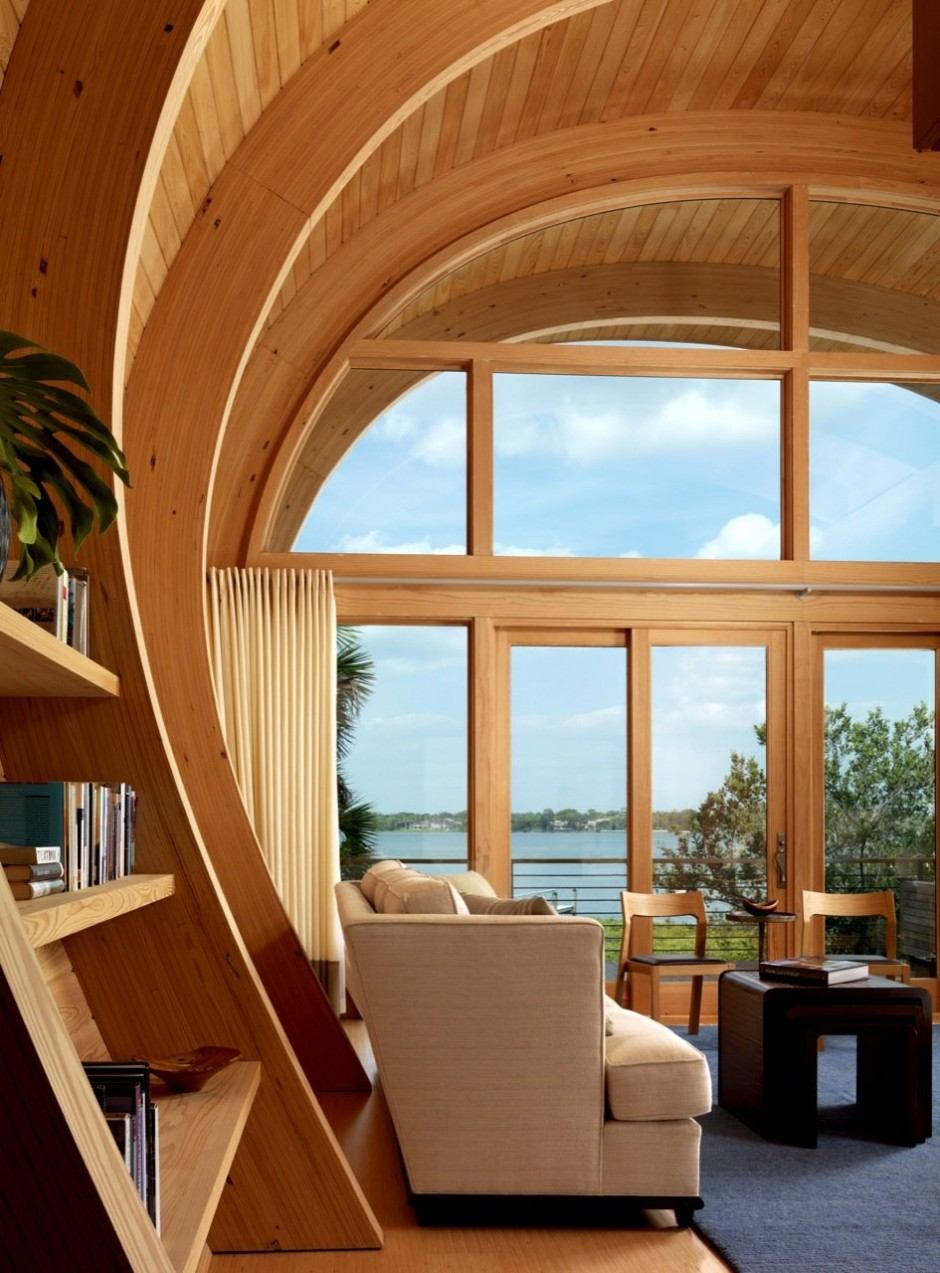 Residencia de hu spedes de totems architecture revista - Madera para techos interiores ...