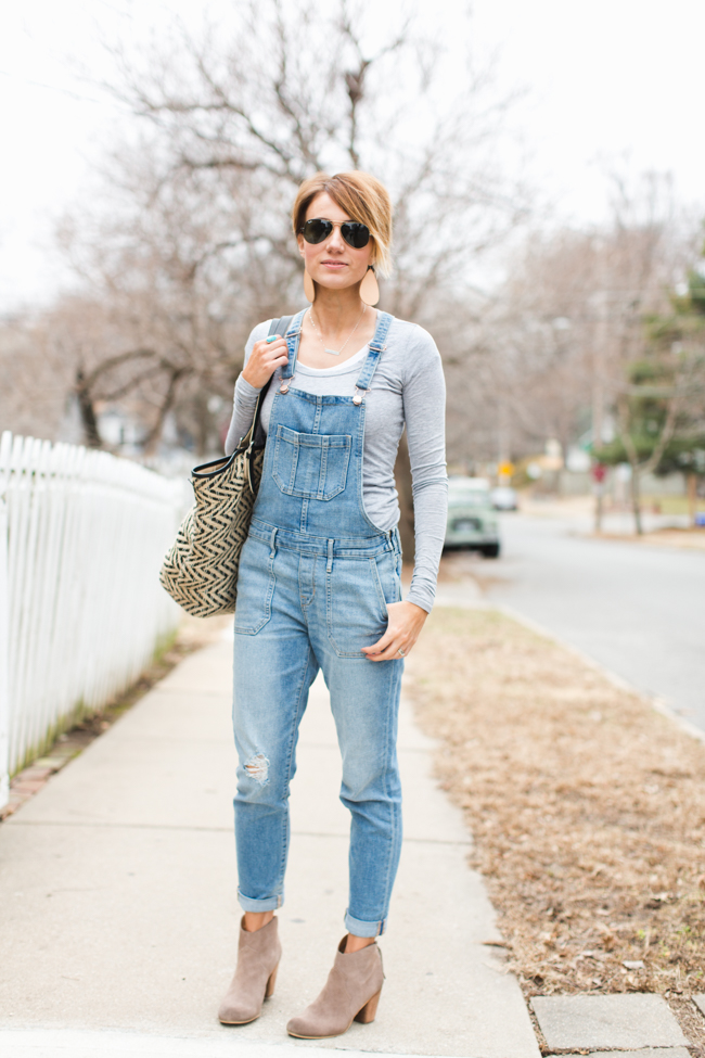 eabf0ac1e2d4 How to Wear Overalls and Still Look Your Age - ONE little MOMMA