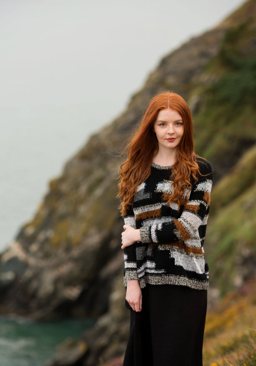 30 Stunning Pictures From All Over The World That Prove The Unique Beauty Of Redheads - Gracie From Howth, Ireland