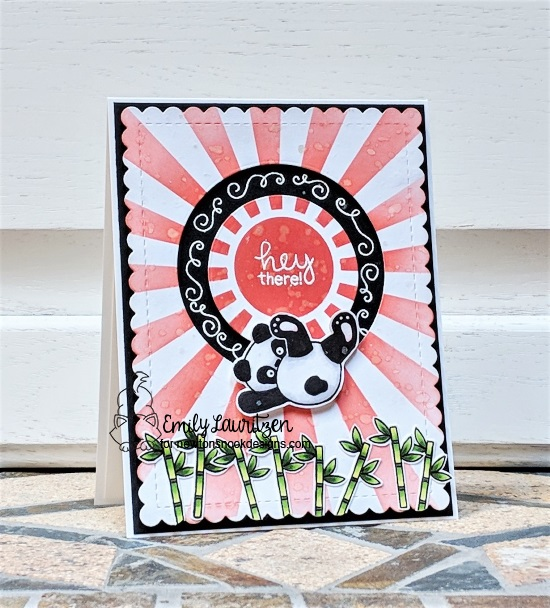 Hey there by Emily features Playful Pandas and Sunscape by Newton's Nook Designs; #newtonsnook