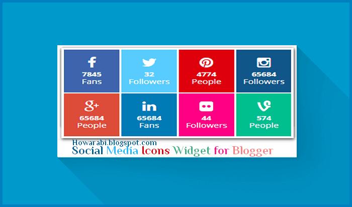 اضافات بلوجر-اضافة صندوق ايقونات روابط المواقع الاجتماعية لمدونات بلوجر
