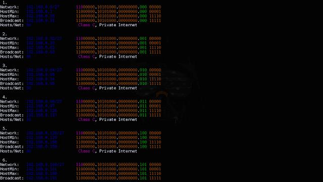 Como fazer calculo de sub-rede no terminal