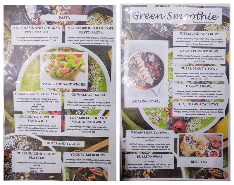 Superfood Green Smoothie Menu 1 of 2