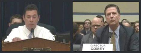 Committee Chairman Jason Chaffetz (R - Utah) grills FBI Director James Comey