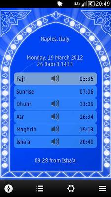 Mawakit 0 5 - Prayer Times & Qibla Direction - Nokia N8
