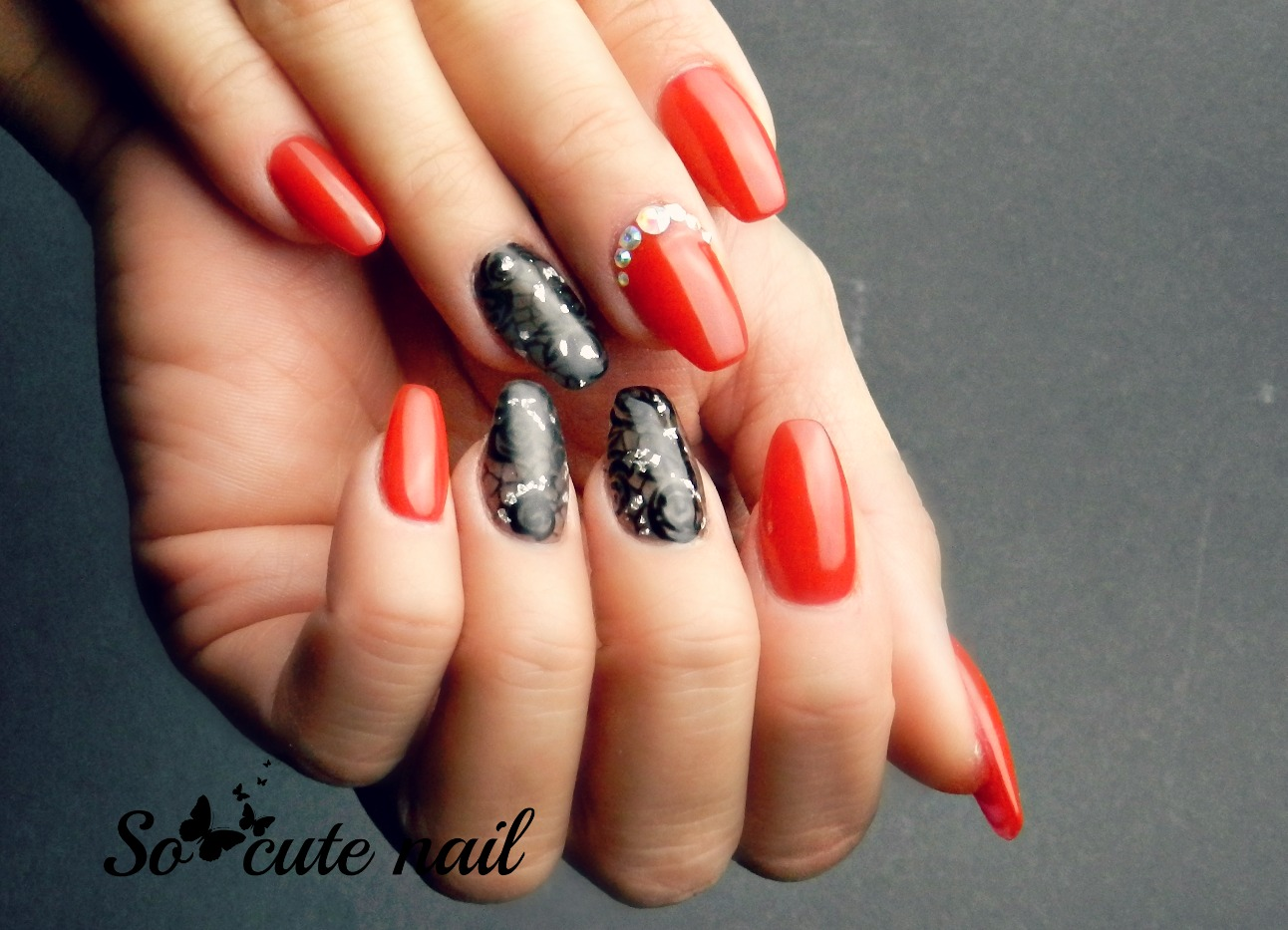 awesome bisous with ongle forme ballerine