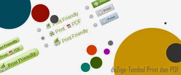 Tombol Print dan Save PDF