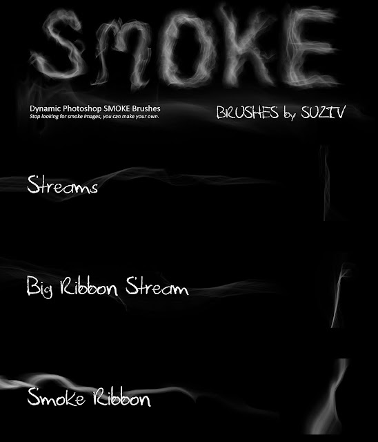 Smoke Brushes for Photoshop set 04