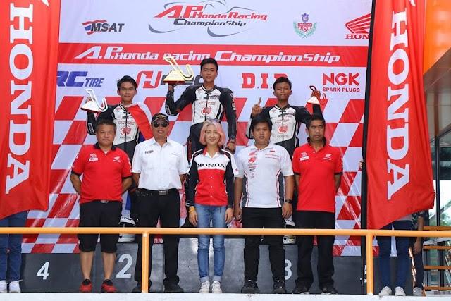 Pembalap Honda, Herjun Atna Sapu Bersih Podium Pertama TTC Seri ke 5