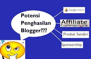 penghasilan blogger
