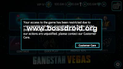 Cara Mengatasi Akun Gangstar Vegas di Banned / Tidak Bisa di Buka
