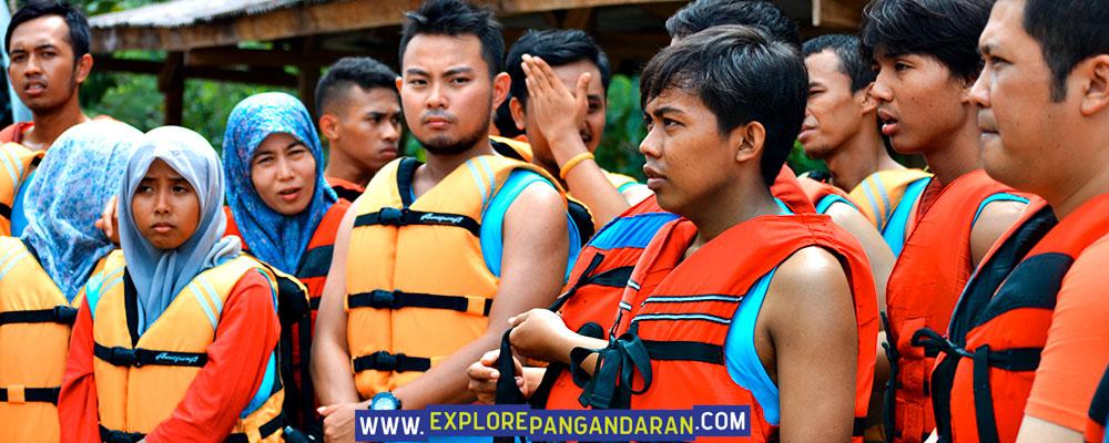 persiapan dan briefing teknis body rafting citumang