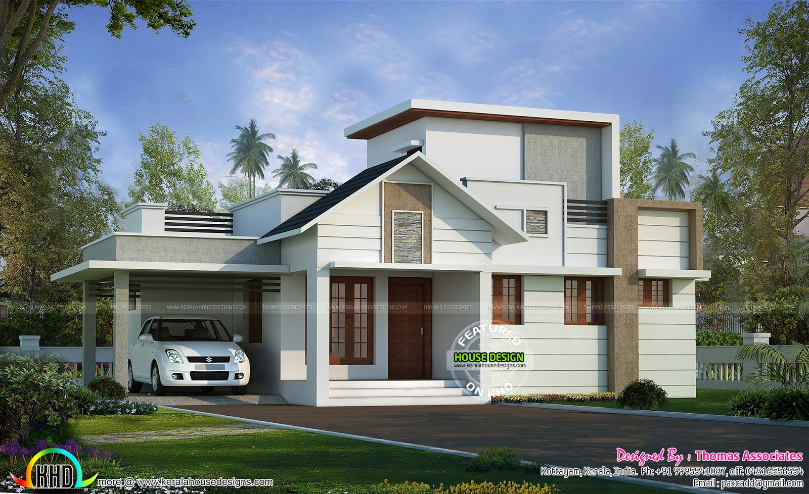 24 lakhs cost estimated one floor house kerala home for One floor house images