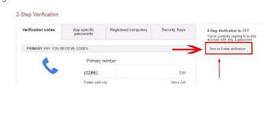 cara verifikasi 2 langkah akun gmail