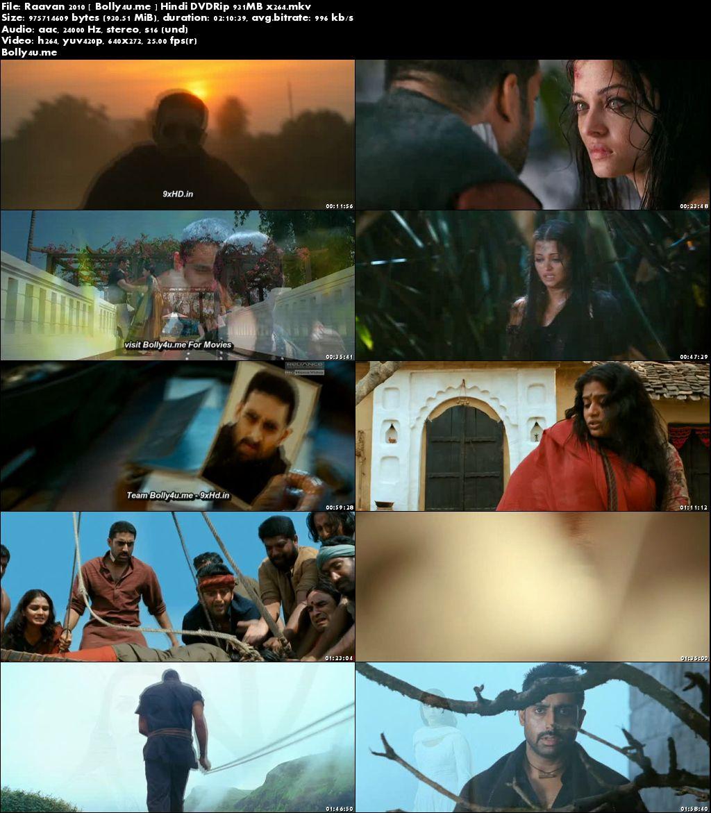 Raavan 2010 DVDRip 900MB Full Hindi Movie Download x264