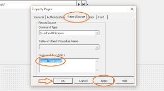 Perintah Untuk Menampilkan Seluruh Data Tabel di Database Microsoft Access