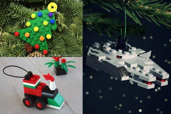 Lego Christmas ornament tutorials