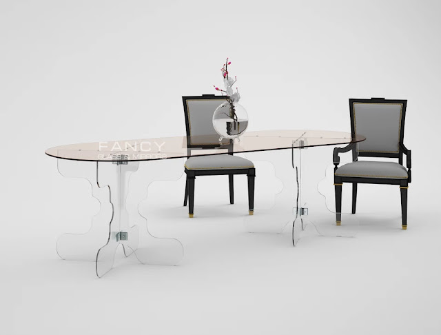 Fathy Glass Dining Table