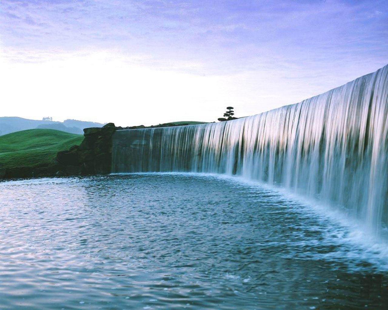 Natural Waterfall Wallpaper