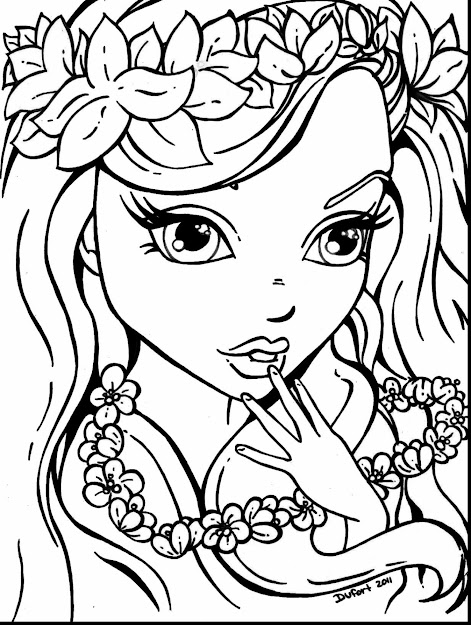 Beautiful Girls Printable Coloring Pages With Beautiful Coloring Pages And  Beautiful Coloring Pages