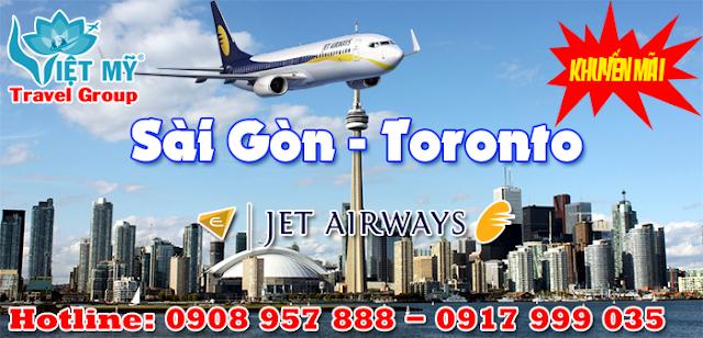 Khuyến mãi đi Canada hãng Jet Airways