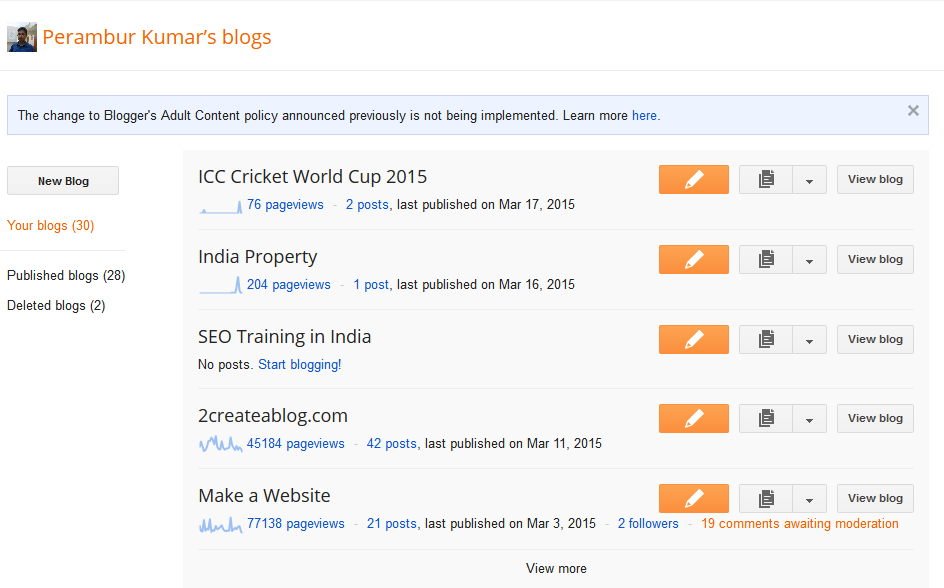Custom Domain : Select a Blog from Blogger Dashboard - Image - 2