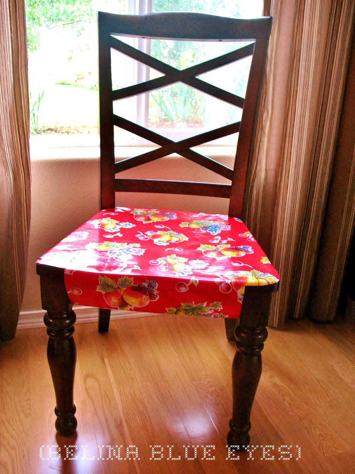 Outstanding Belina Blue Eyes No Sew Oilcloth Chair Protector Beatyapartments Chair Design Images Beatyapartmentscom