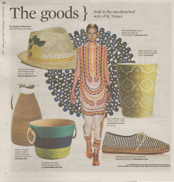 CHICAGO TRIBUNE, The Goods St Tropez trend page