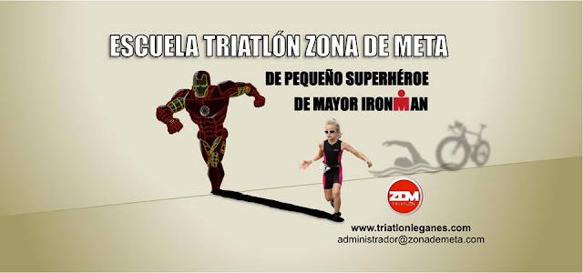 de pequeños superhéroe de mayor ironman Escuela Triatlón Zona De Meta  Leganes