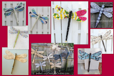 recycled art dragonflies