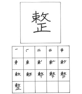 kanji menata/menyiapkan