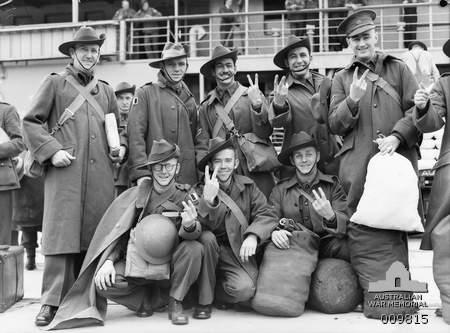Australian troop...V For Victory Sign