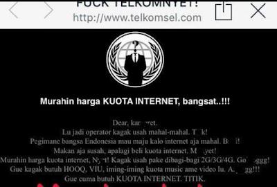 isi Curhat hacker di situs telkomsel