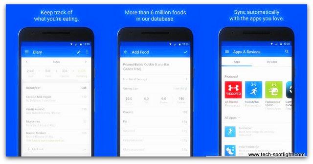 MyFitnessPal تطبيق إنقاص الوزن وقياس السعرات الحرارية