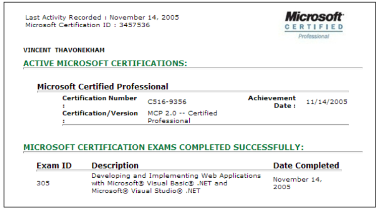 Image result for Microsoft certification ID