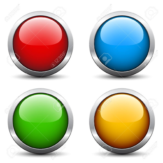 Vector Glossy Buttons Stock Vector