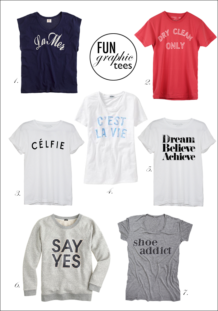 graphic tees, shoe addict tee, sincerely jules, celfie, dry clean only, shopbop, ily couture
