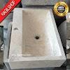 Wastafel marmer tulungagung kotak bermotif asli batualam 35 x 50cm