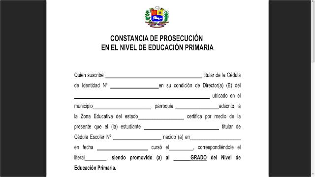 ATENCIÓN DIRECTORES DEL NIVEL DE PRIMARIA + FORMATOS DE: Certificado de Estudios y Constancia de Prosecución