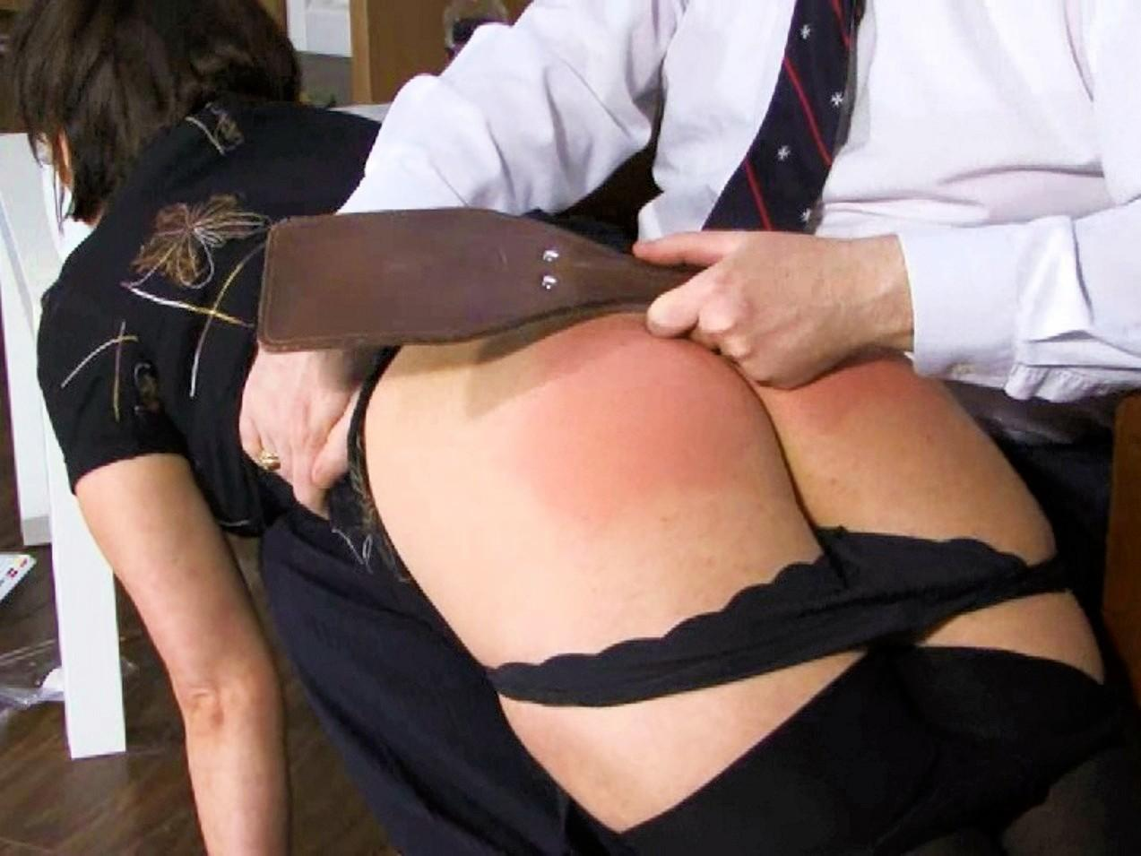 Wife ass spanked while fucking