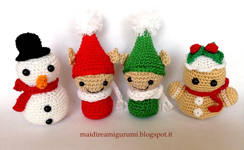 35 decorazioni natalizie all'uncinetto e Amigurumi - Ispirando | 491x800