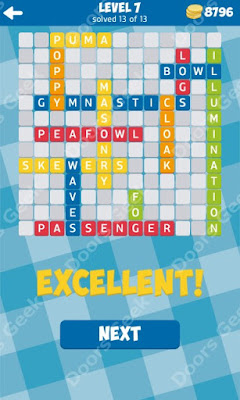 Cheats, Solutions for Level 7 in 13 Word Connect by Second Gear Games