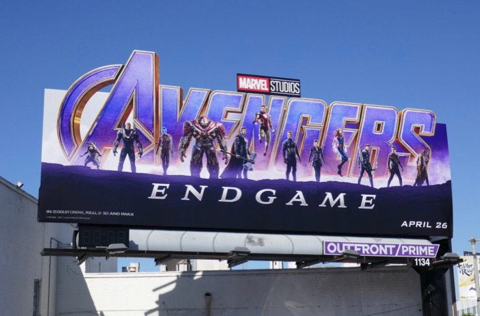 Avengers Endgame movie billboard