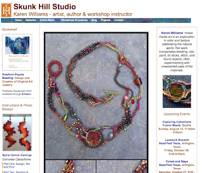 Screenshot of old home page for www.skunkhillstudio.com