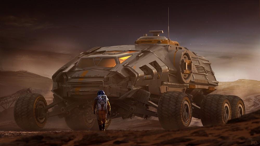 Mars truck by Pat Presley