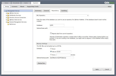 QlikView Publisher QVPR Backup