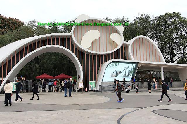 Main Entrance, Chengdu Research Base of Giant Panda Breeding, Chengdu, Sichuan, China