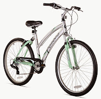 "Northwoods Pomona Women's Cruiser Bike with 26"" wheels, lightweight aluminum frame, 7 gears, dual-suspension, Ergo-fit handlebars, twist shifters, Shimano rear derailleur"