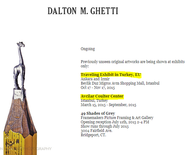 Dalton Ghetti'den Kalem Sanatı