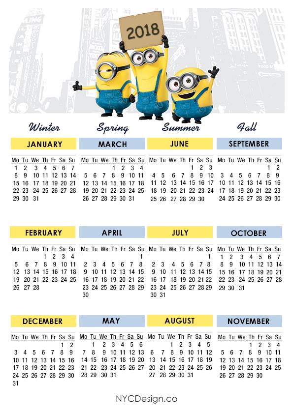 Calendar 2018 School Nyc